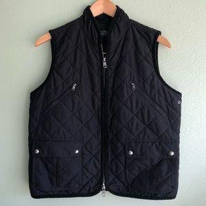 Ralph Lauren black quilted vest